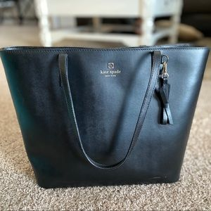 Black Kate Spade shoulder tote